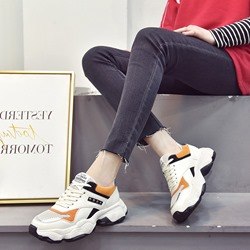 Shoespie Lace-Up Casual Microfiber Sneakers