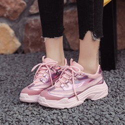 Shoespie Running Lace-Up Platform Chunky Sneakers