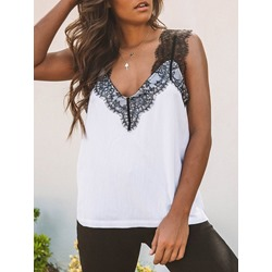 Sexy Polyester Lace Women's Tank Top
