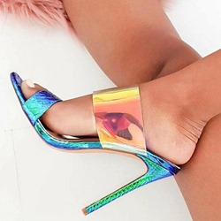 Shoespie Stylish Slip-On Flip Flop Stiletto Heel PU Slippers