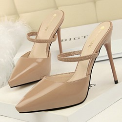 Shoespie Pointed Toe High Heel Mules Shoes