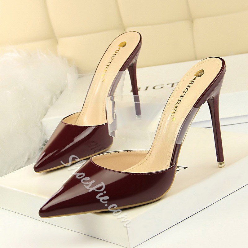 Shoespie Stiletto Heel Jelly Backless Slippers