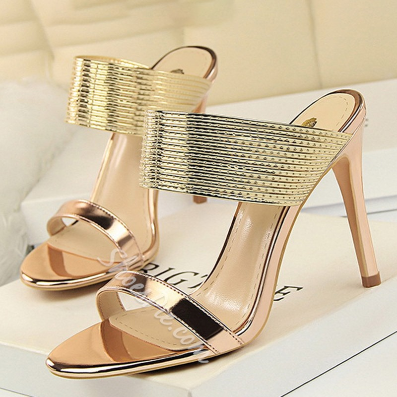 Shoespie Stiletto Heel Backless Summer Mules