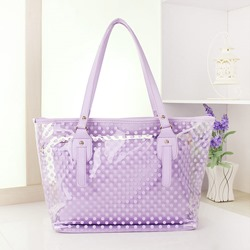 Shoespie Polka Dots Thread PVC Rectangle Tote Bags