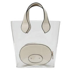 Shoespie Thread Plain ABS Plastic Barrel-Shaped Tote Bags