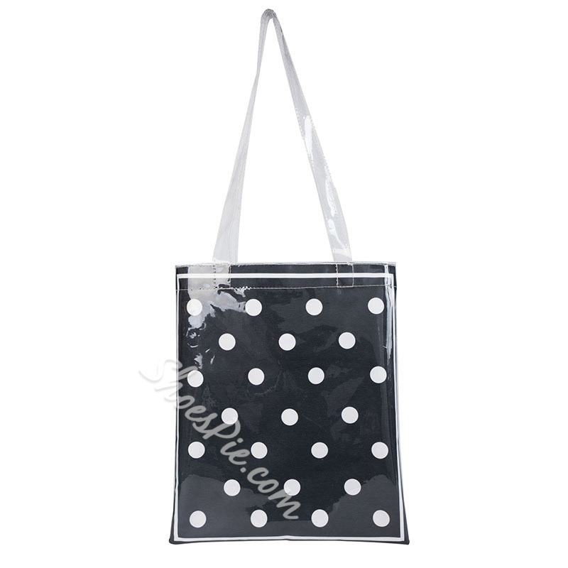 Shoespie PVC Thread Polka Dots Rectangle Shoulder Bags