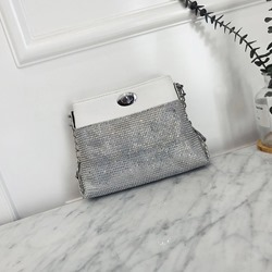 Shoespie Plain PU Chain Rectangle Crossbody Bags
