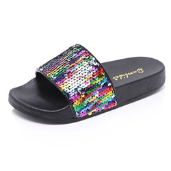 Shoespie Glitter Sequin Flat Casual Slippers