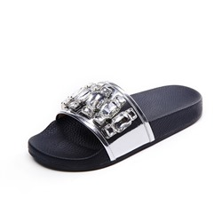 Shoespie Rhinestone Flat Casual Slippers
