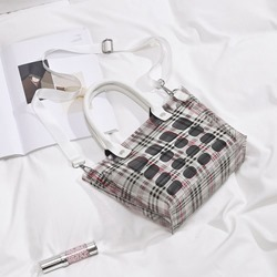 Shoespie Print Plaid Barrel-Shaped Shoulder Bags