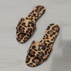 Shoespie Leopard Flat Casual Slippers