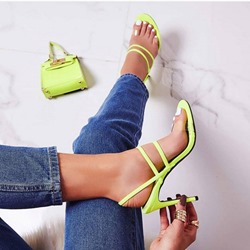 Shoespie Stiletto Heel Open Toe Clear Sandals