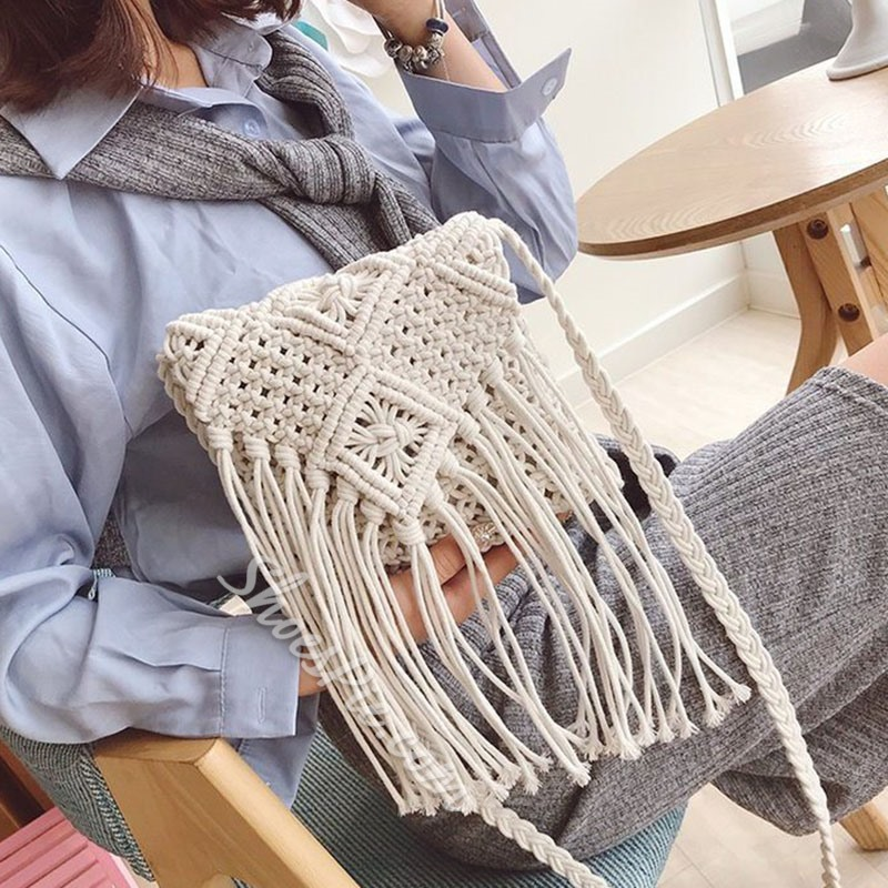 Shoespie Bohemian Knitted Crossbody Bags