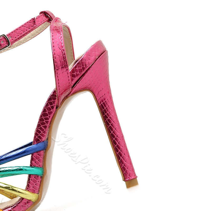 Shoespie Buckle Ankle Strap High Heel Sandals