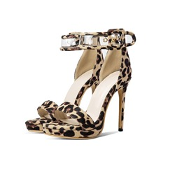 Shoespie Sexy Buckle Stiletto Heel Leopard Sandals