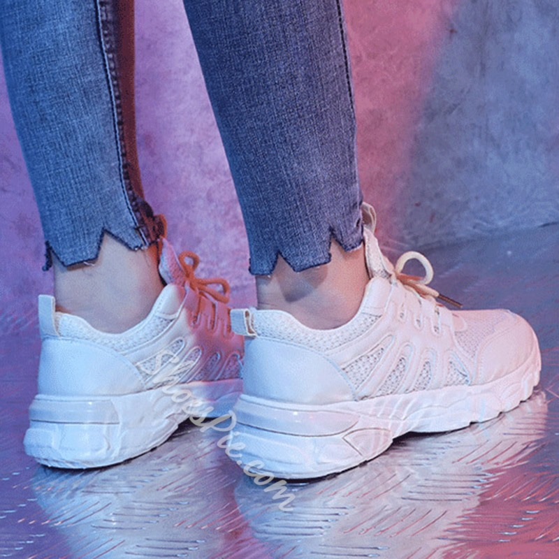 Shoespie Lace-Up Casual Sport Sneakers
