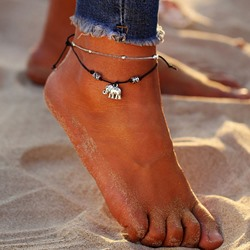 Ethnic Elephant Shape E-Plating Alloy Anklets