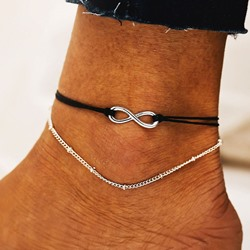 Eight Shape E-Plating Unisex Anklets