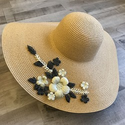 Straw Hat 3D Korean Floral Hats