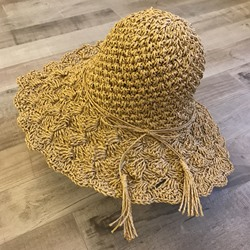Straw Hat Hollow Straw Plaited Article Plain Hats