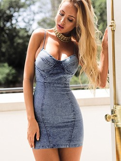 Sleeveless Above Knee Backless Women's Bodycon Dress