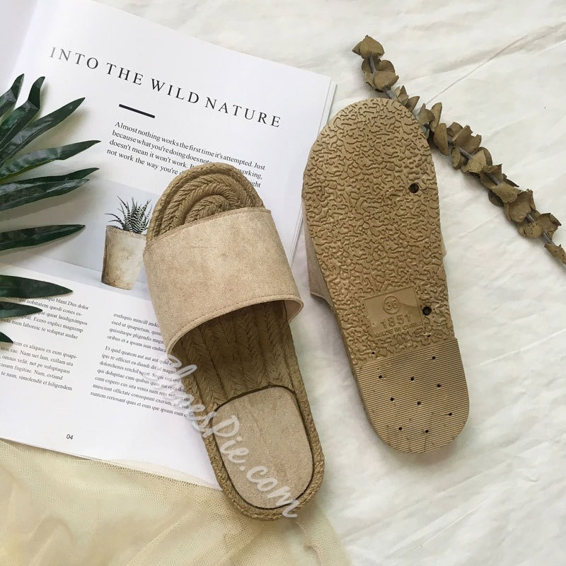 Shoespie Flat Open Toe Summer Slippers
