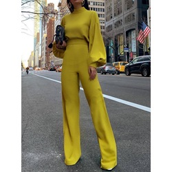 Fashion Full Length Plain Slim Women's Jumpsuit