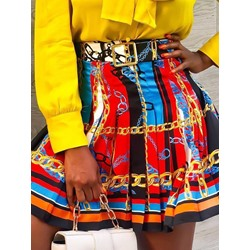Pleated Mini Skirt Pleated Fashion Women's Skirt