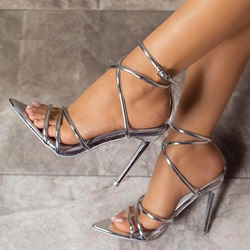 Shoespie Stylish Stiletto Heel Buckle Strap Sandals