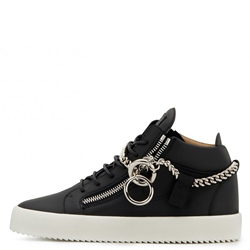 Shoespie Lace-Up Plain Zipper Men's Skate Shoes