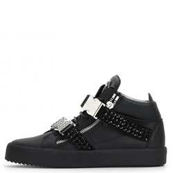 Shoespie Buckle High-Cut Men's Rivet Skate Shoes