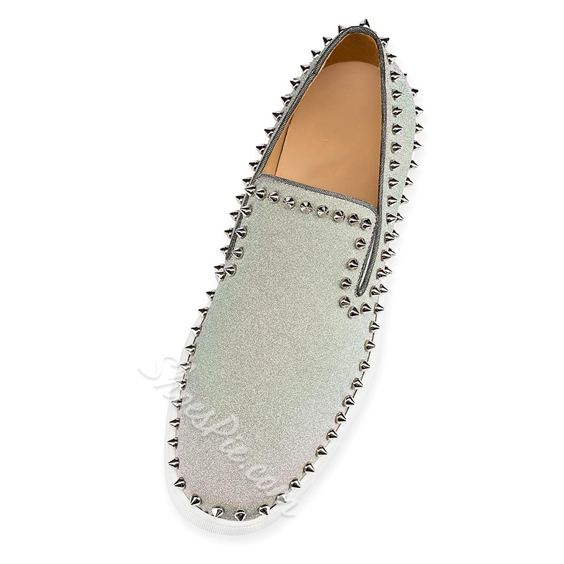 Shoespie Men's Rivet Flat Shoes
