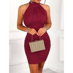 Knee-Length Sleeveless Office Lady Women's Bodycon Dress