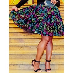 Print A-Line Knee-Length Western Women's Skirt