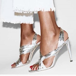 Shoespie Open Toe Stiletto Heel Slingback Sandals
