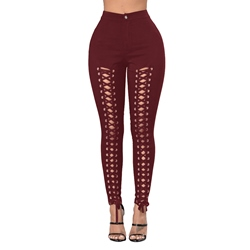 Plain Western Hollow Women's Leggings