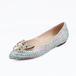 Shoespie Stylish Beads Pointed Toe Flats