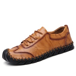 Shoespie Casual Leather Lace-Up Men's Loafers