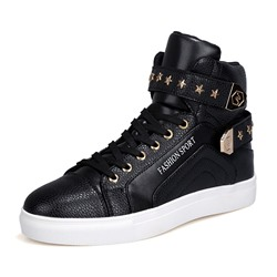 Shoespie Men's Sports Lace-Up High-Cut Sneakers