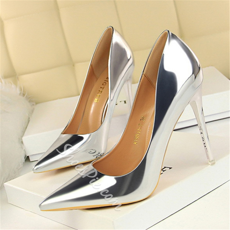 Shoespie Pointed Toe Prom High Heel Pumps