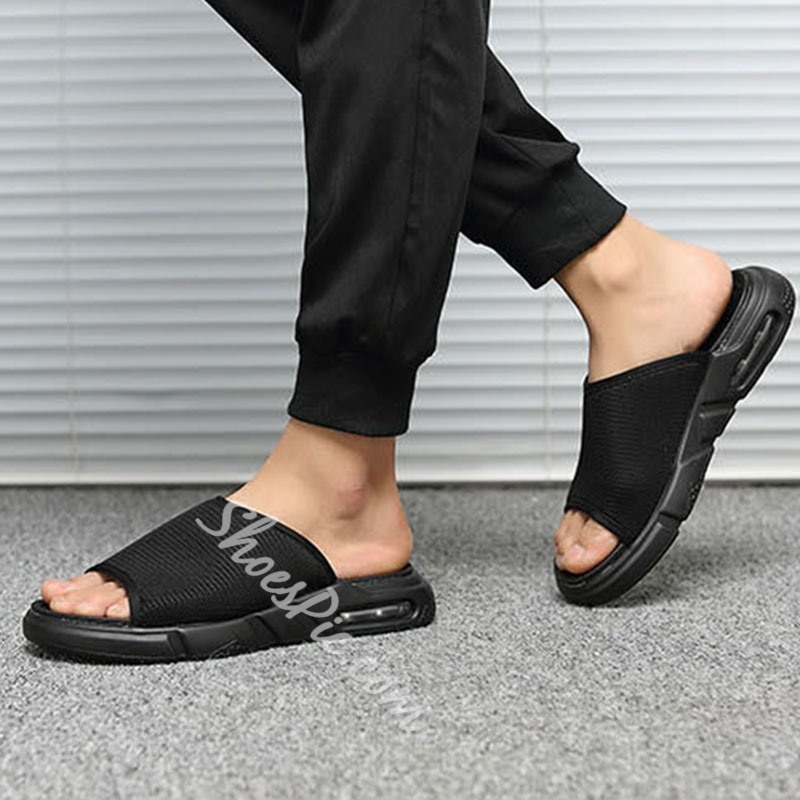Shoespie Black Summer Simple Men's Slippers