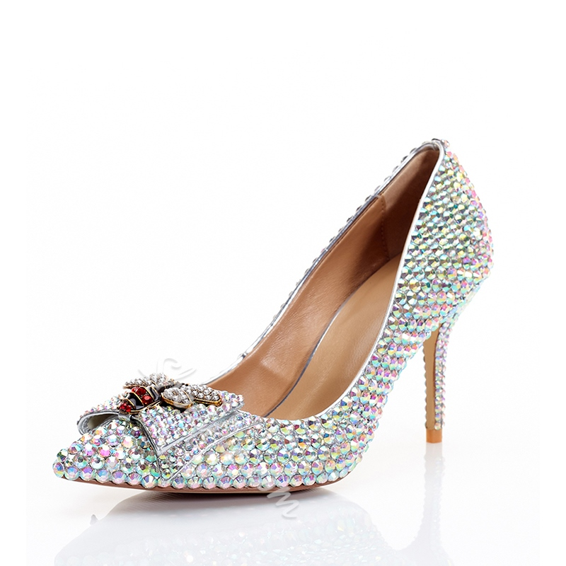 Shoespie Rhinestone Prom High Heel Pumps