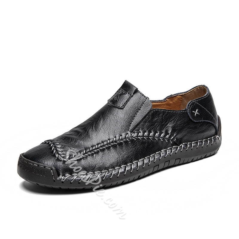 Shoespie Large Size Leather Men's Loafers