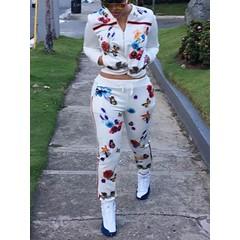 Western Print Floral Straight Women's Two Piece Sets