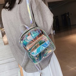 Shoespie ABS Plastic Thread Plain Backpacks