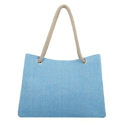Shoespie Thread Plain Canvas Square Tote Bags