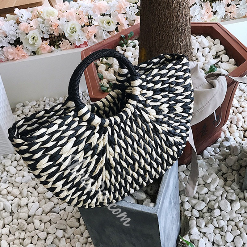 Shoespie Grass Knitted Tote Bags