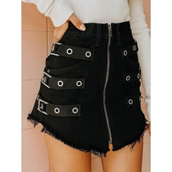 Mini Skirt Bodycon Zipper Western Women's Skirt