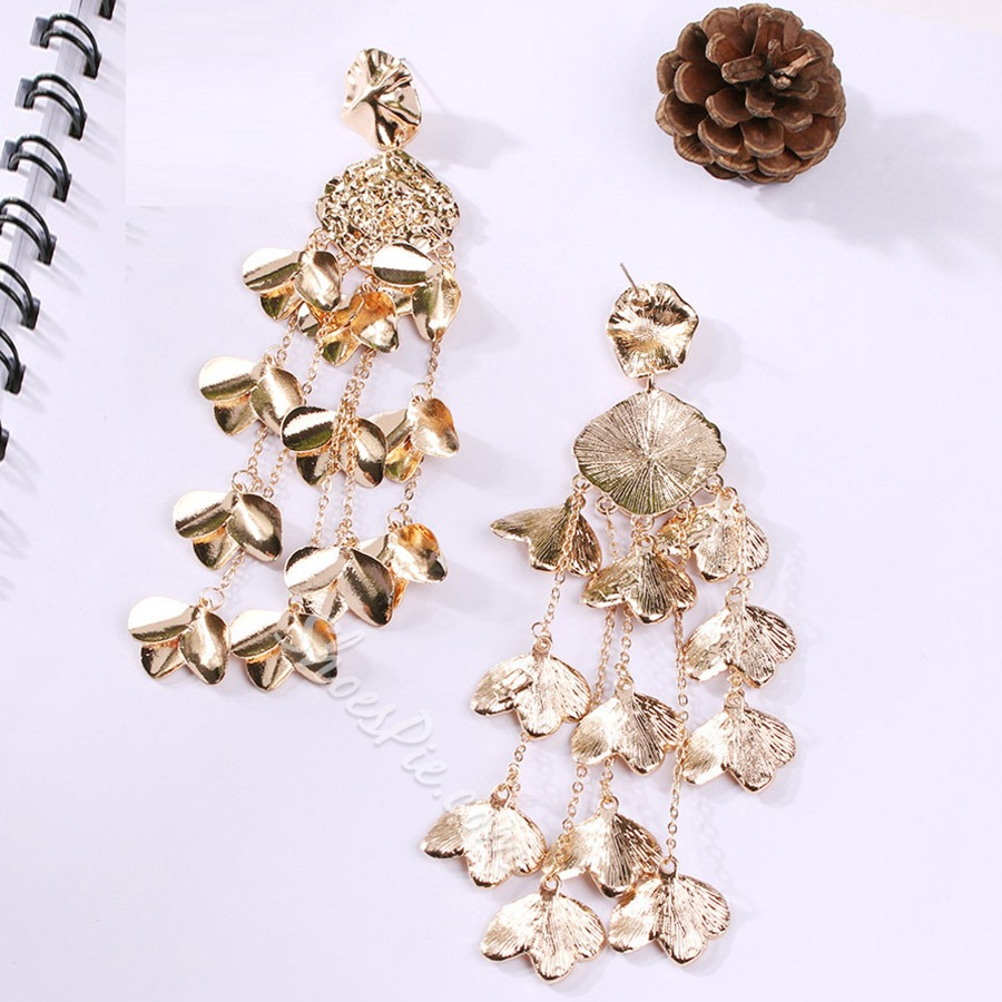 Shiny Metal Sequins Tassel Alloy Drop Earrings