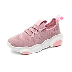 Shoespie Round Toe Lace-Up Mesh Sneakers